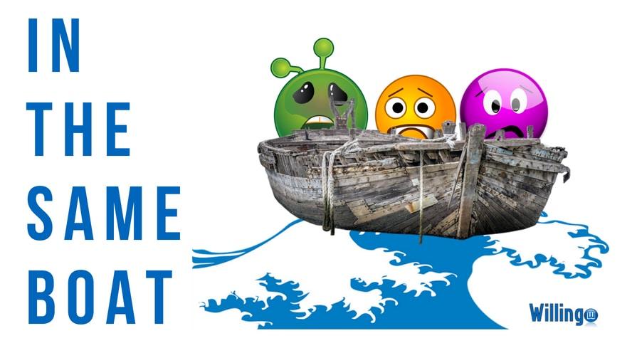 in the same boat nghĩa là gì trong tiếng Anh