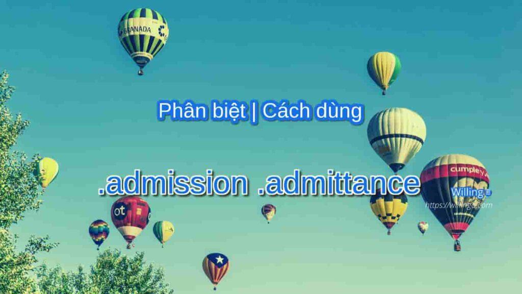admission | admittance